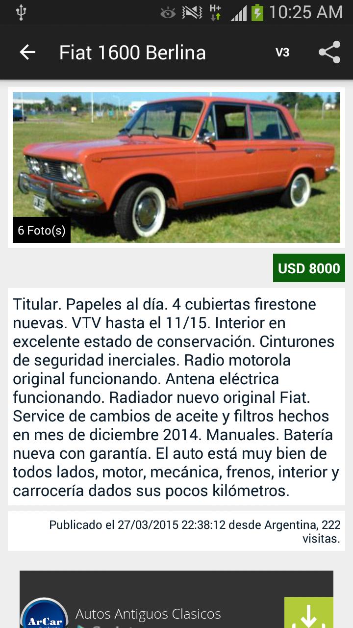 ArCar Autos Antiguos, Clasicos: Amazon.es: Appstore para Android