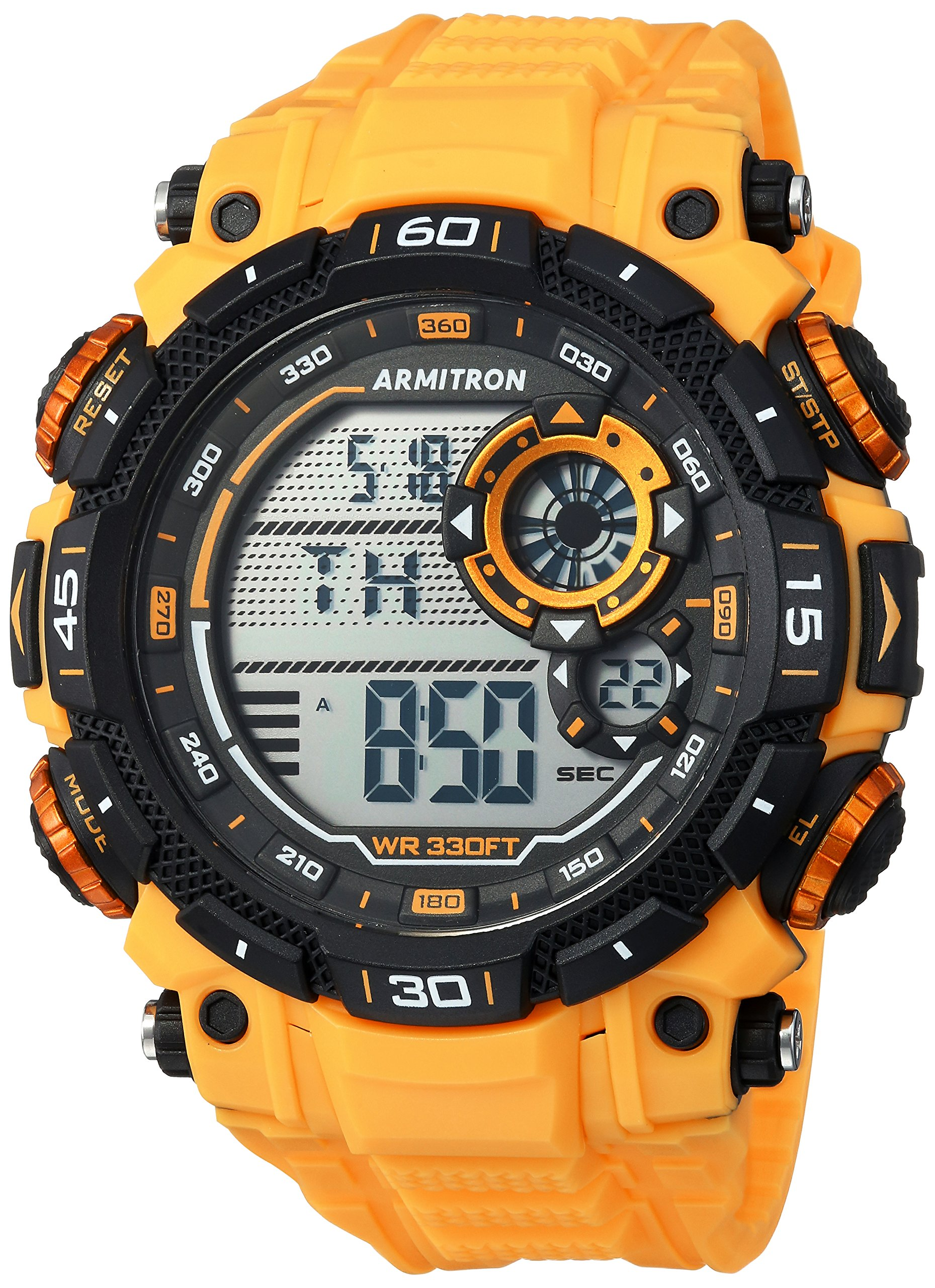 Armitron Sport Men's 40/8397YLW Digital Chronograph Yellow Resin Strap Watch by Armitron Sport