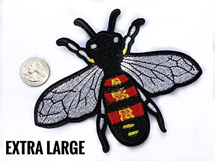 4a5766349 Image Unavailable. Image not available for. Color: Bee Patch Wasp Patch  Gucci Patch Embroidery Patch Extra ...