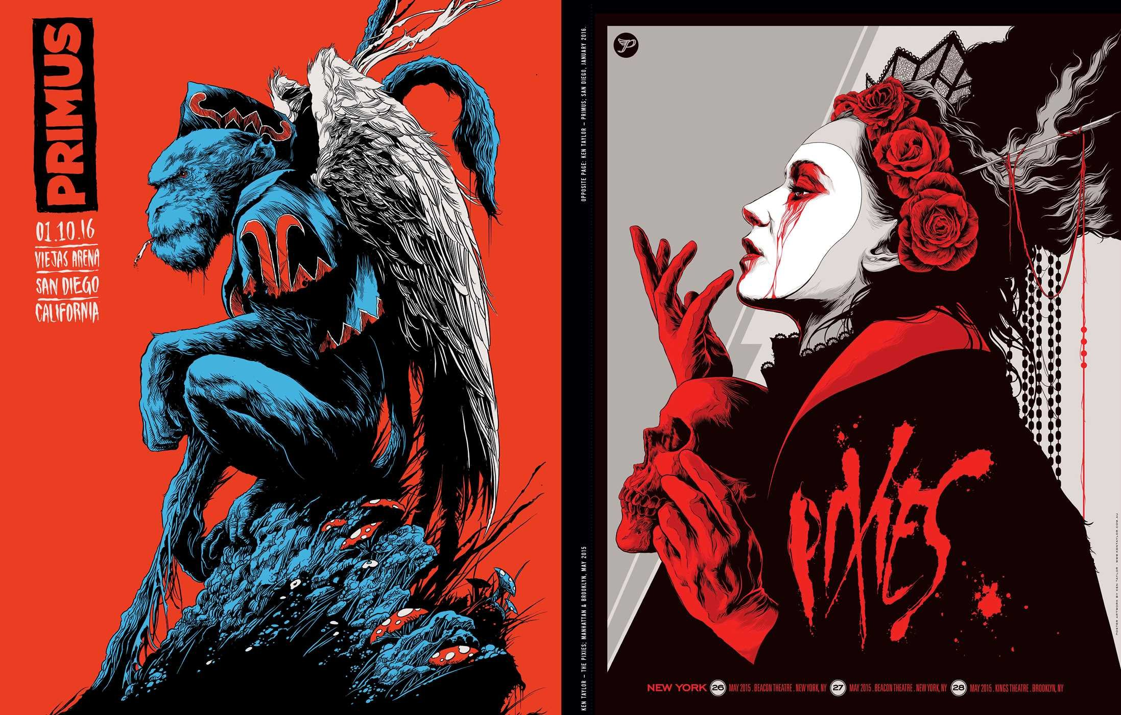 omg posters a decade of rock art mitch putnam 9781941393543
