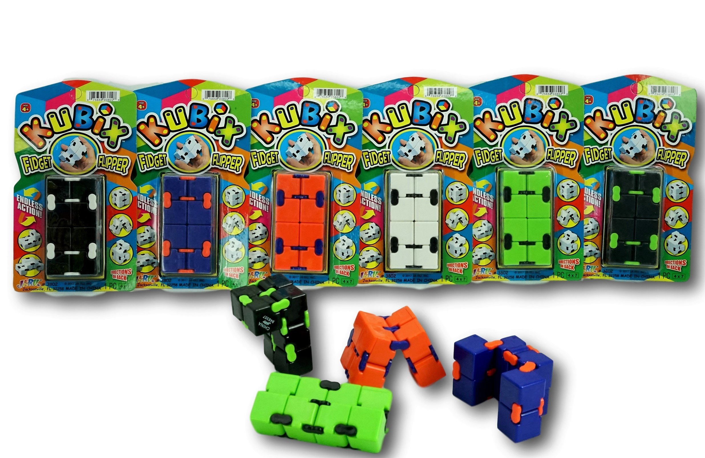 2GoodShop Kubix Speed Cube Fidget Cube Flip It Endlessly to Keep Your Fingers Busy and Your Mind Focused Pack of 24   Item #3802 by 2GoodShop (Image #3)
