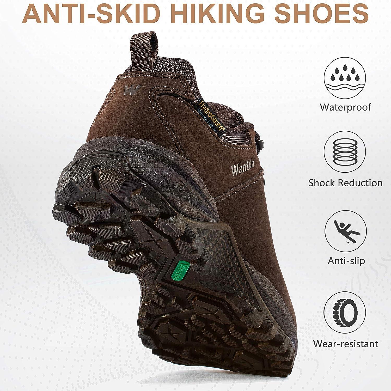 Wantdo Womens Waterproof Hiking Shoe Hydroguard Hiking Boots for Outdoor Trekking Backpacking Mountaineering
