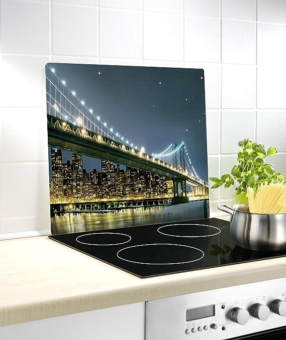Wenko Cubre Vitro Menu para Cocinas de Vitrocerámica, Vidrio, Multicolor, 56x50x4.5 cm: Amazon.es: Hogar