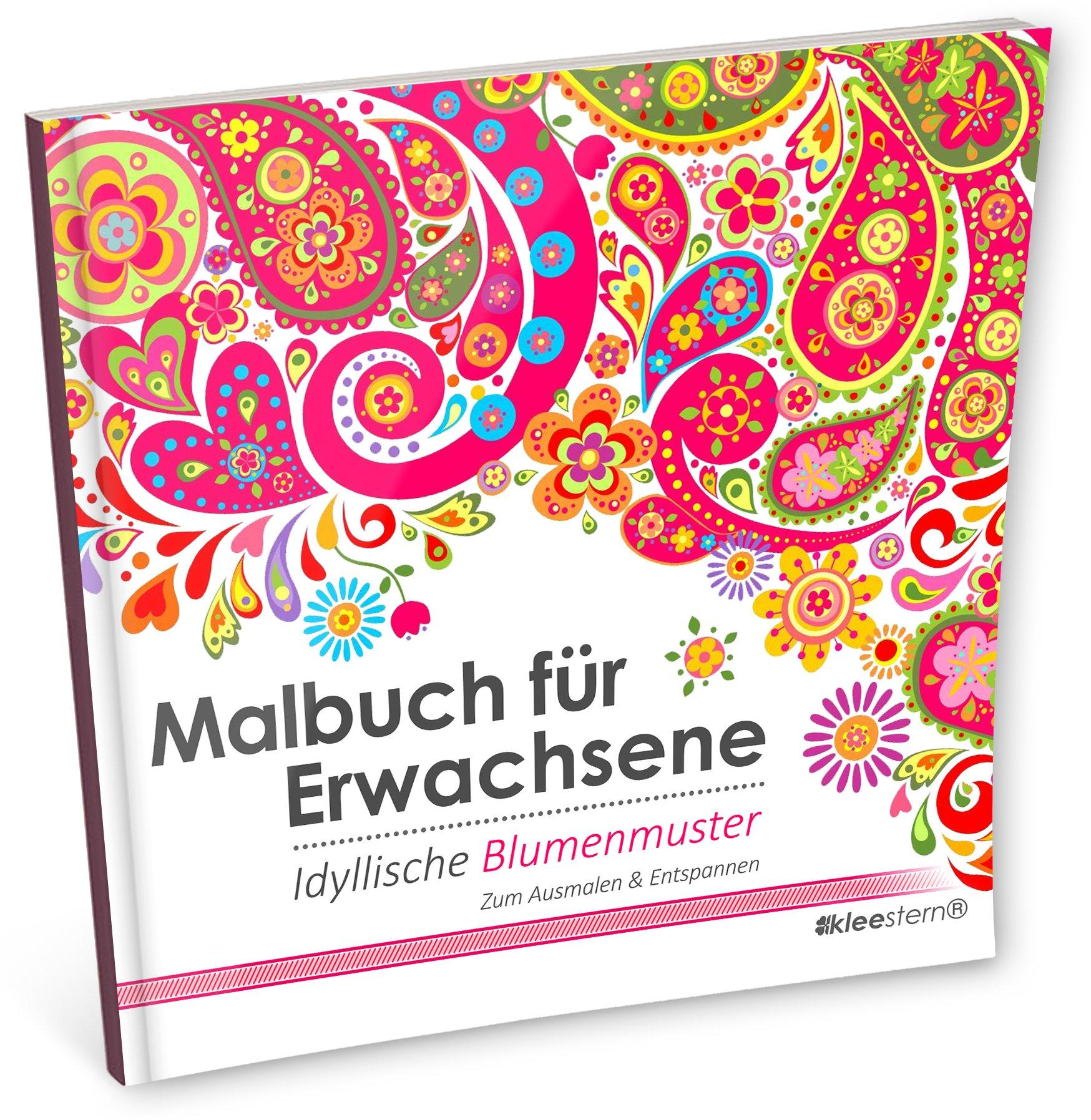 Ausmalbilder Blumen Für Erwachsene : Malbuch F R Erwachsene Idyllische Blumenmuster Zum Ausmalen
