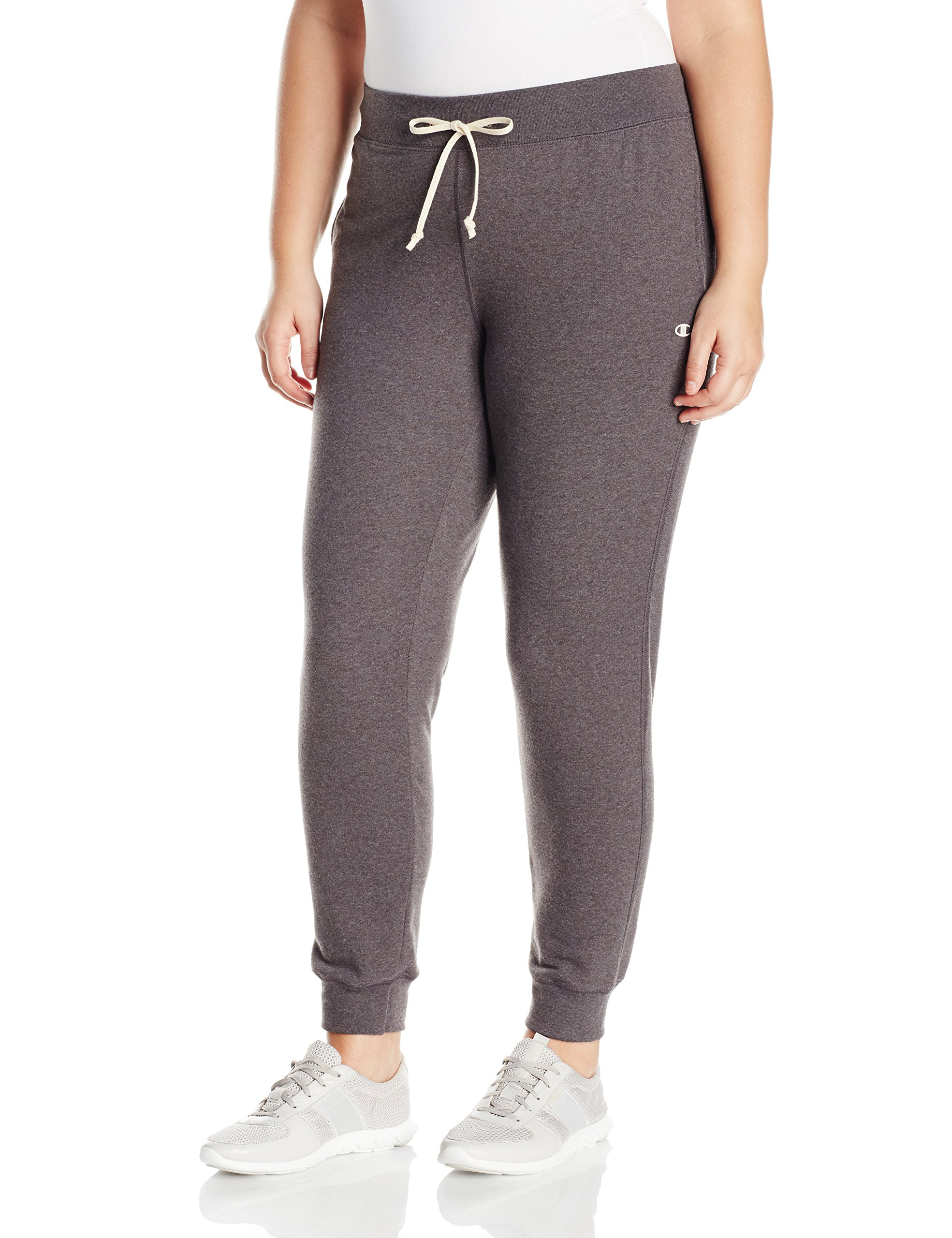 Champion Women's Plus-Size French Terry Jogger, Granite Heather, 1X by Champion