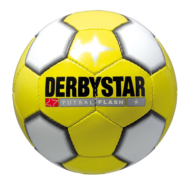 DERBYSTAR FUTSAL FLASH Ballon de football Jaune/blanc/noir Taille 4 1069400512