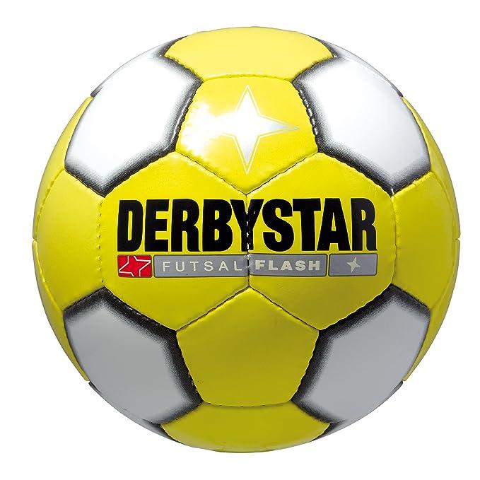 Derbystar Flash - Balón de fútbol indoor, color amarillo/blanco ...