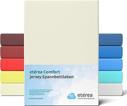 2er Set Spannbettlaken Jersey creme passend für 90 x 190 cm bis 100 x 200 cm