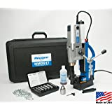 """Hougen HMD917 115-Volt Swivel Base Magnetic Drill 2 Speed/Coolant Bottle Plus 1/2"""" Drill Chuck, Adapter Plus 12002 Rotabroach Cutter Kit"""