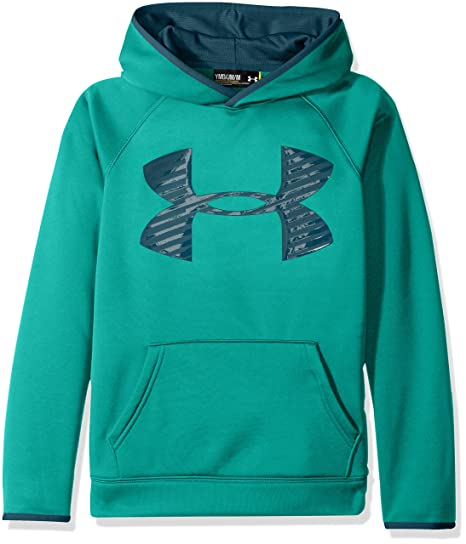 82cdfe1cb Amazon.com: Under Armour Boys Storm Fleece Highlight Big Logo Hoodie:  Clothing