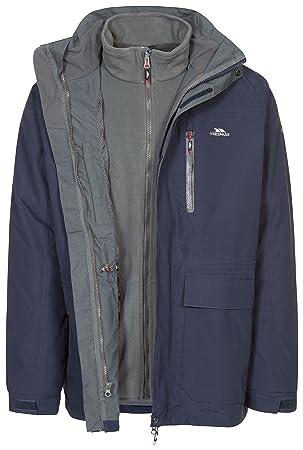 00b72df52 Trespass Edgewater II Mens 3 in 1 Jacket Waterproof Longer Length Rain Coat