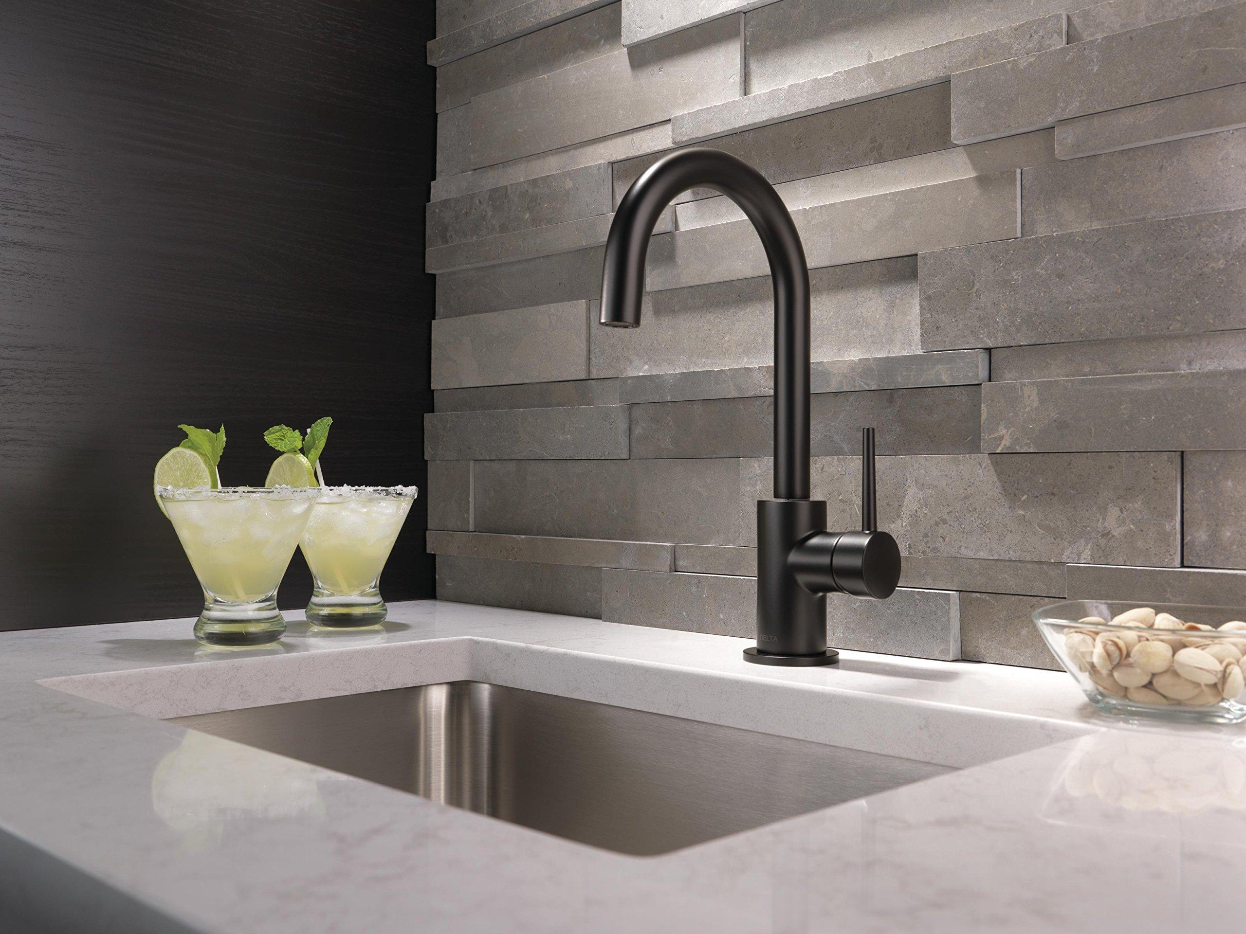 Delta Faucet Trinsic Single-Handle Bar-Prep Kitchen Sink Faucet, Matte Black 1959LF-BL by DELTA FAUCET (Image #4)