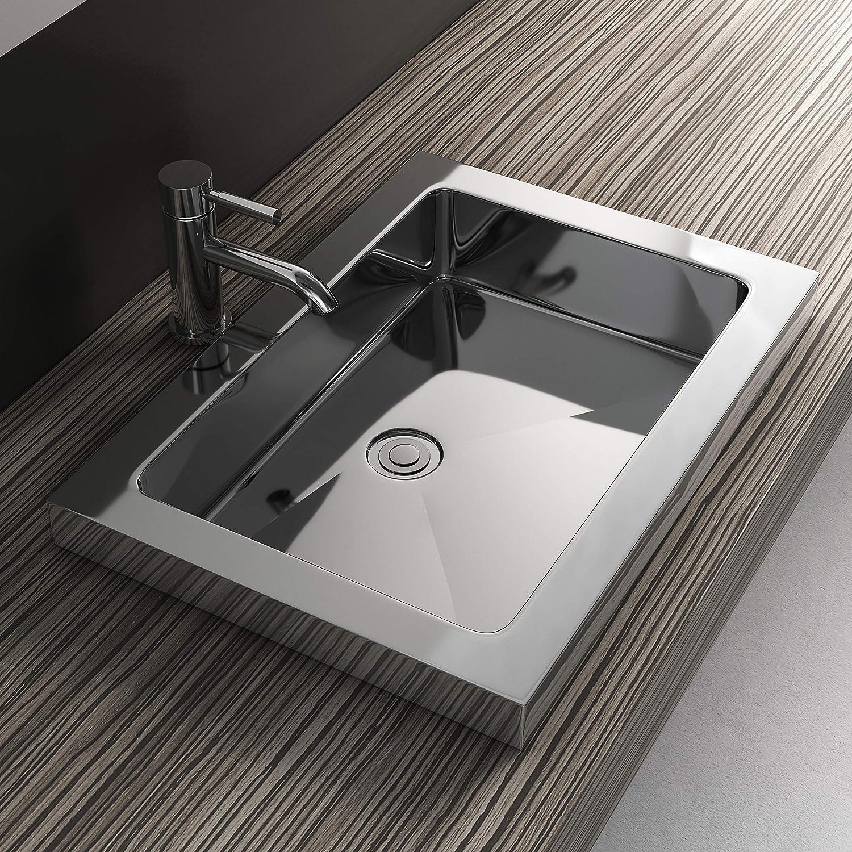 Stainless Steel Rectangular Undermount Bathroom Sink