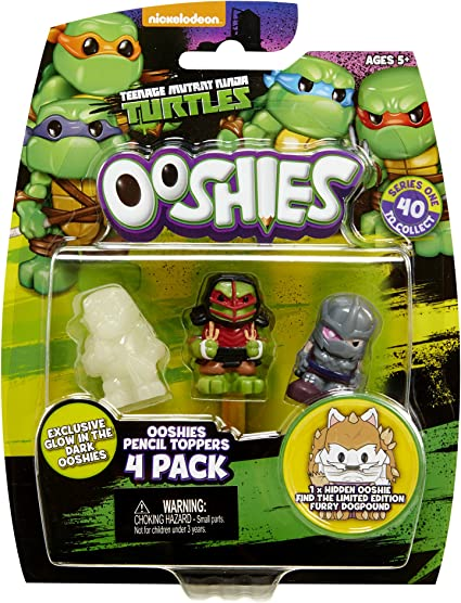 Amazon Com Ooshies Set 2 Tmnt Series 1 Action Figure 4 Pack