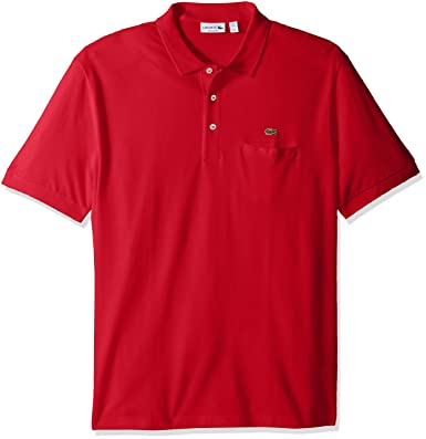 57b0343852f6bd Lacoste Men s Short Sleeve Regular Fit Solid Polo with Pocket at ...