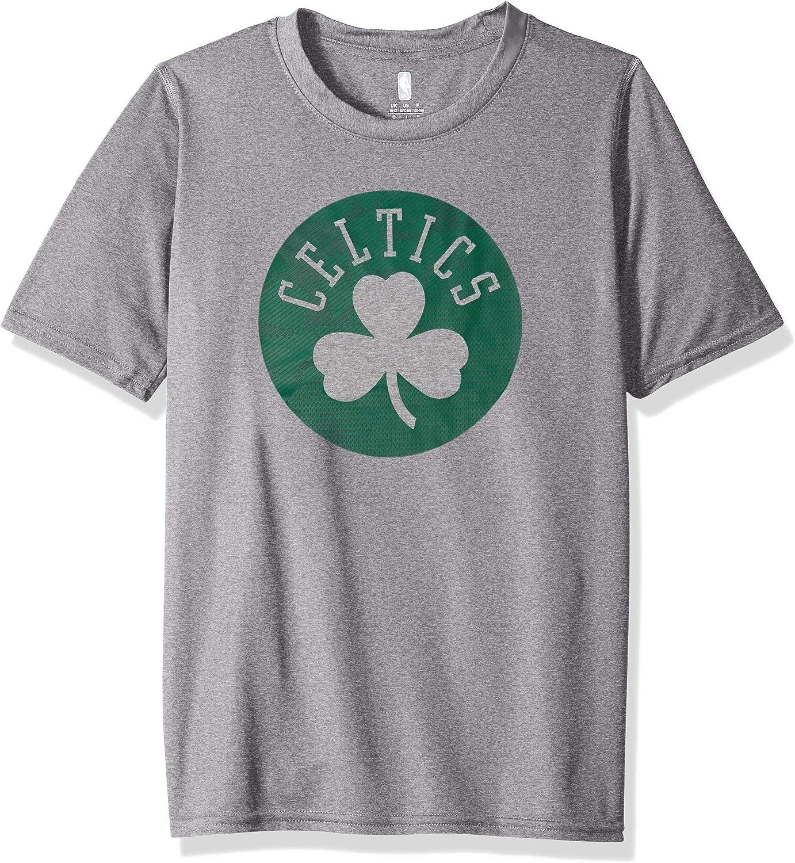 18 Outerstuff NBA NBA Youth Boys Boston Celtics Defensive Short Sleeve Dri Tek Tee Youth X-Large Heather Grey