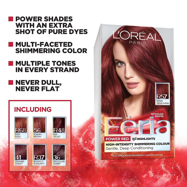 Feria Hair Color, 36 Deep Burgundy Brown (Packaging May Vary) by LOreal Paris