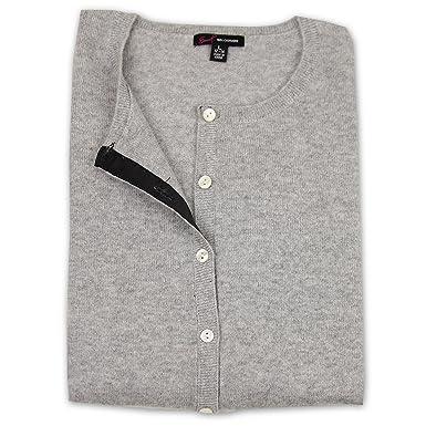 Women's 100% Cashmere Crew Neck Cardigan Sweater at Amazon Women's ...