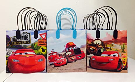 Disney Car Mc Queen Party Favor Goodie Small Gift Bags 12