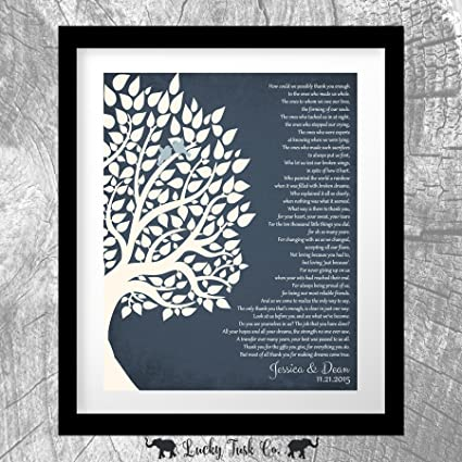 Amazon Thank You Gift For Parents Personalized Gift For Mother