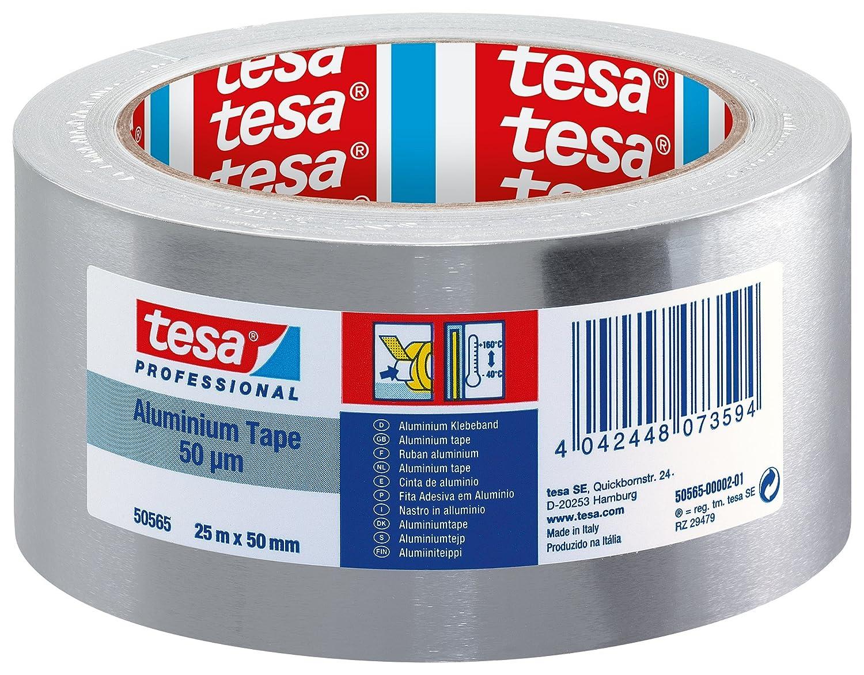 tesa 50565 Aluminium Foil Tape, 50 mm x 25 m Tesa® 50565-00002-01