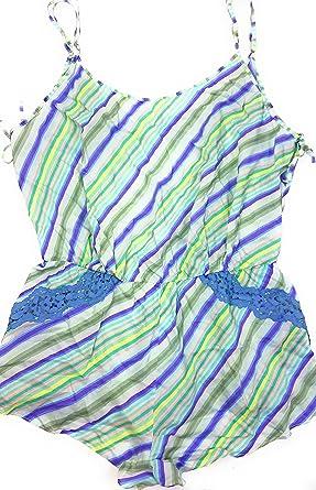 488458c1be3f7 Victoria's Secret Striped Sleep Romper L/G at Amazon Women's ...