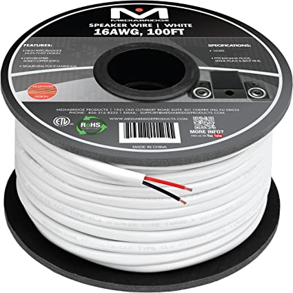 Cable Matters 2-Conductor In-Wall Rated 50 FT CM 16 AWG Speaker Cable
