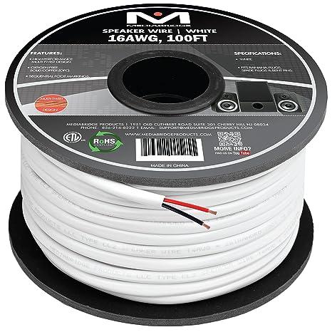 Awesome Amazon Com Mediabridge 16Awg 2 Conductor Speaker Wire 100 Feet Wiring Digital Resources Anistprontobusorg