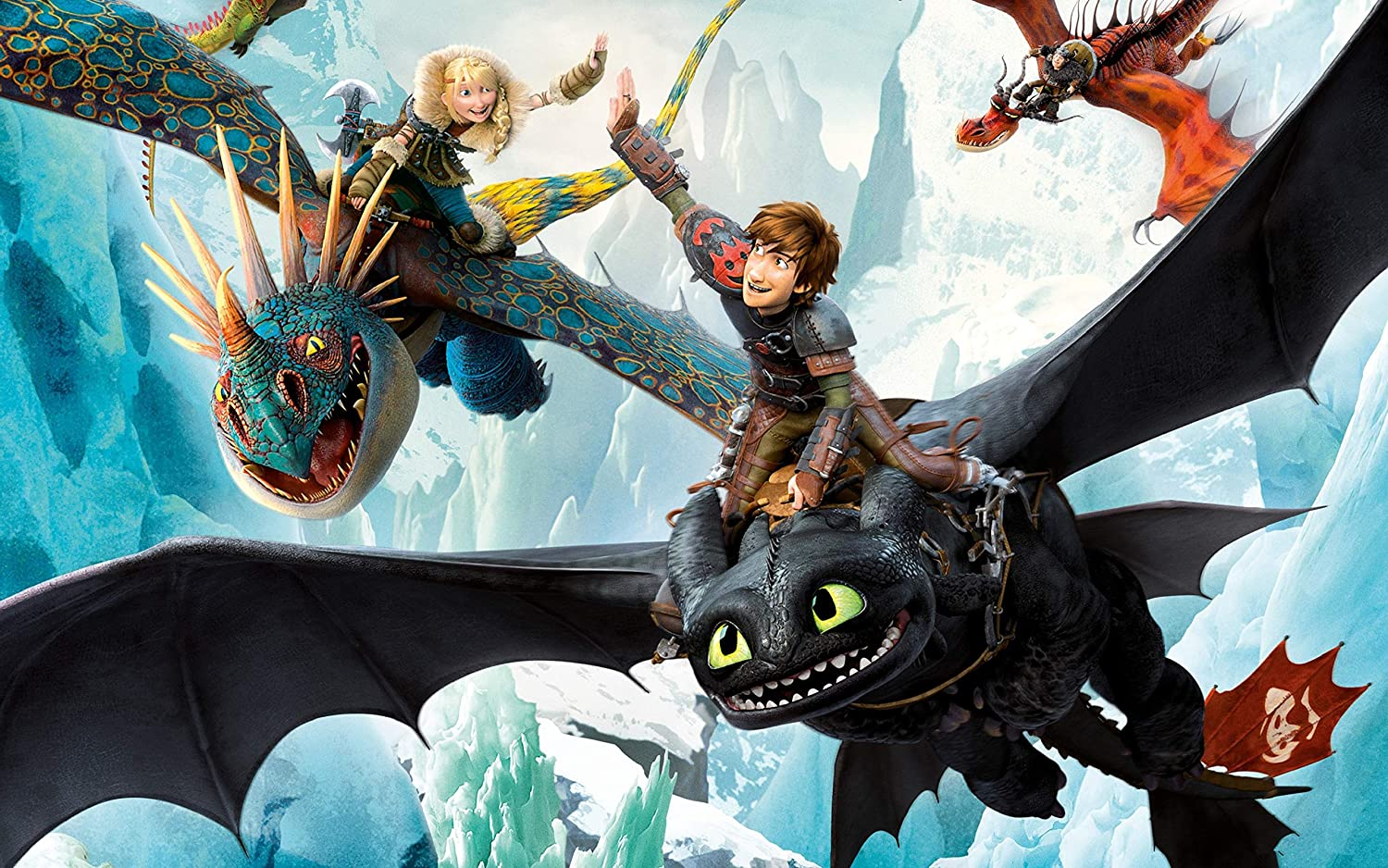Wz1 Wooden Puzzle 1000 Pieces-How to Train Your Dragon-Children Adult Cartoon Anime Landscape Painting Decompression Educational Toy Gift Home Decoration