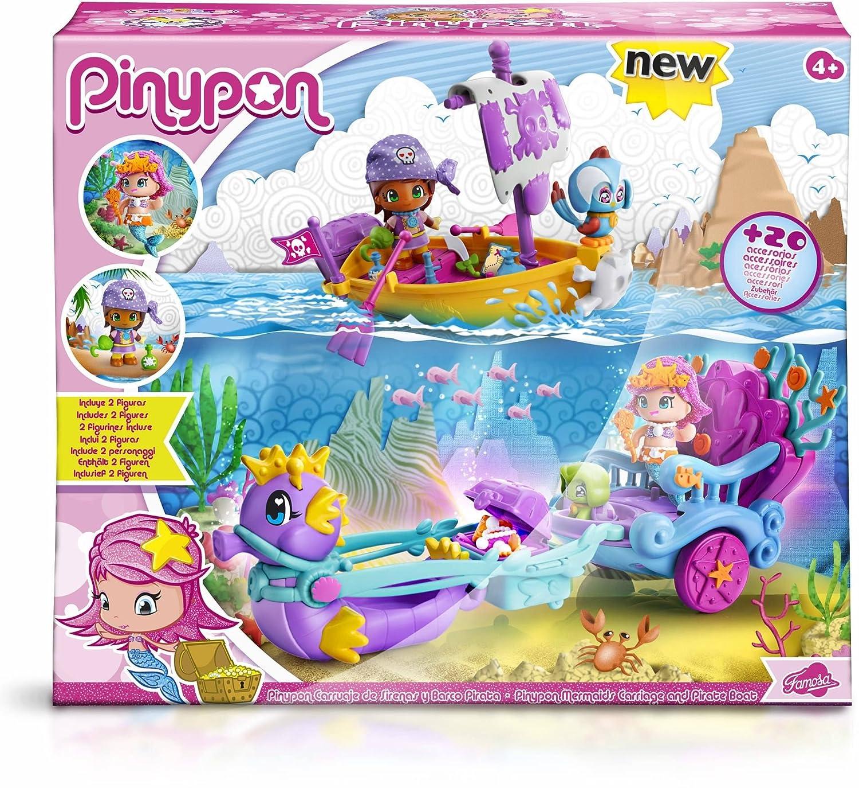 Pinypon - 700013367 - Mini Poupée - le Carrosse des Sirènes Famosa