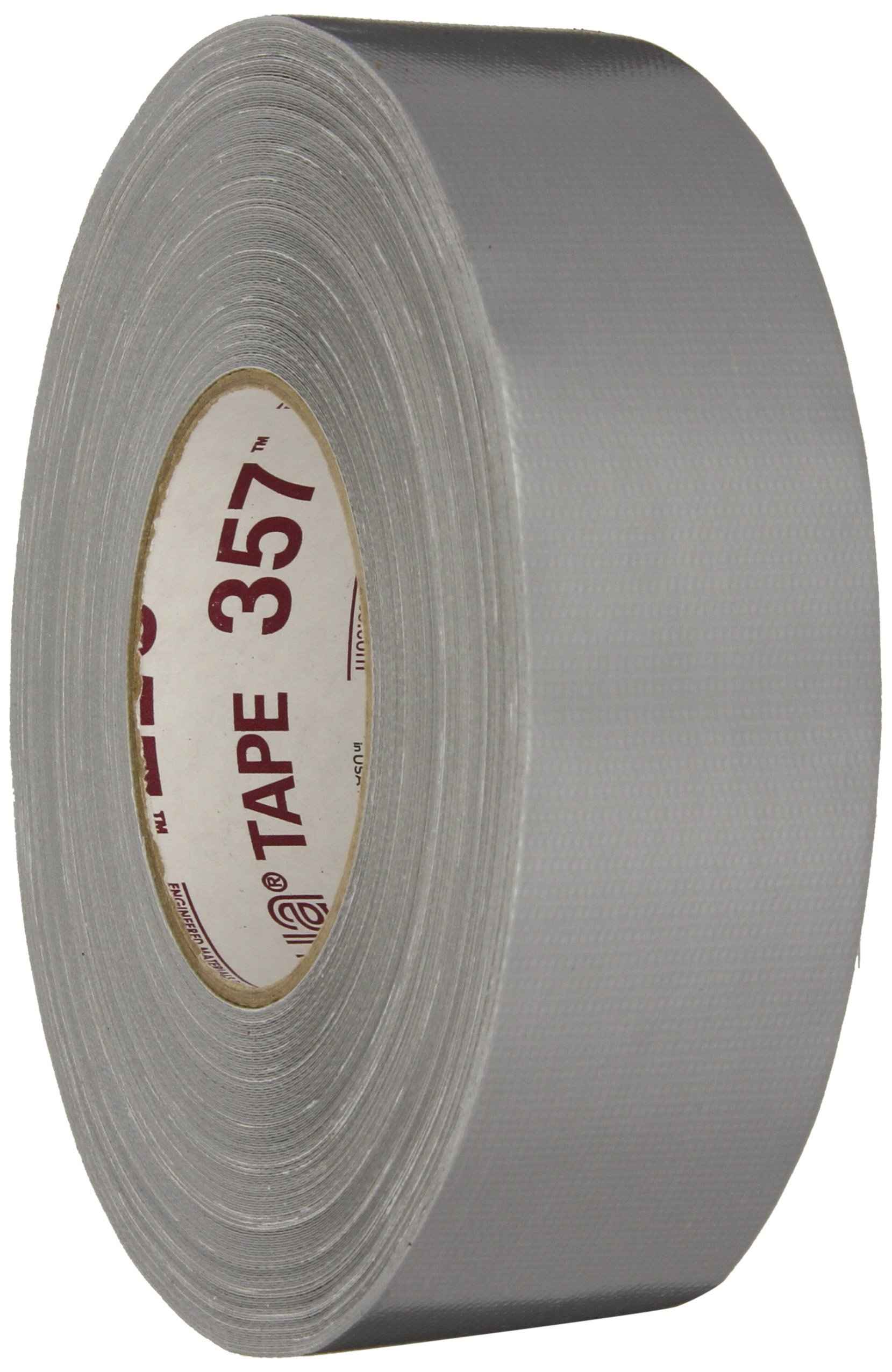Nashua 357 Polyethylene Coated Cloth Premium Grade Duct Tape, 13 mil Thick, 55 m Length, 48 mm Width, Silver