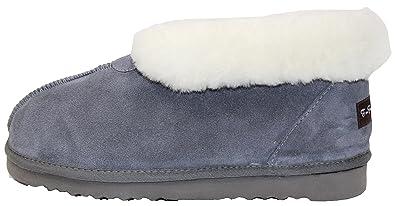 b42477fe5 Furfurmouton Genuine Australian Sheepskin Slippers Booties Men's Super  Thick Premium Sheepskin Slipper (9, Light