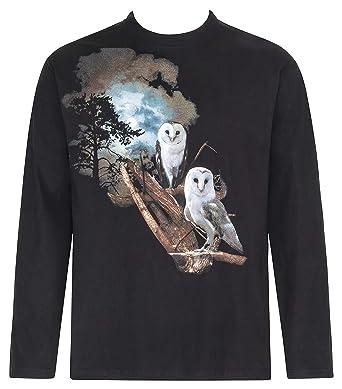 Bushfire Langarm T-Shirt Eulen, Baumwolle, beidseitig bedruckt  Amazon.de   Bekleidung 528235f4fb