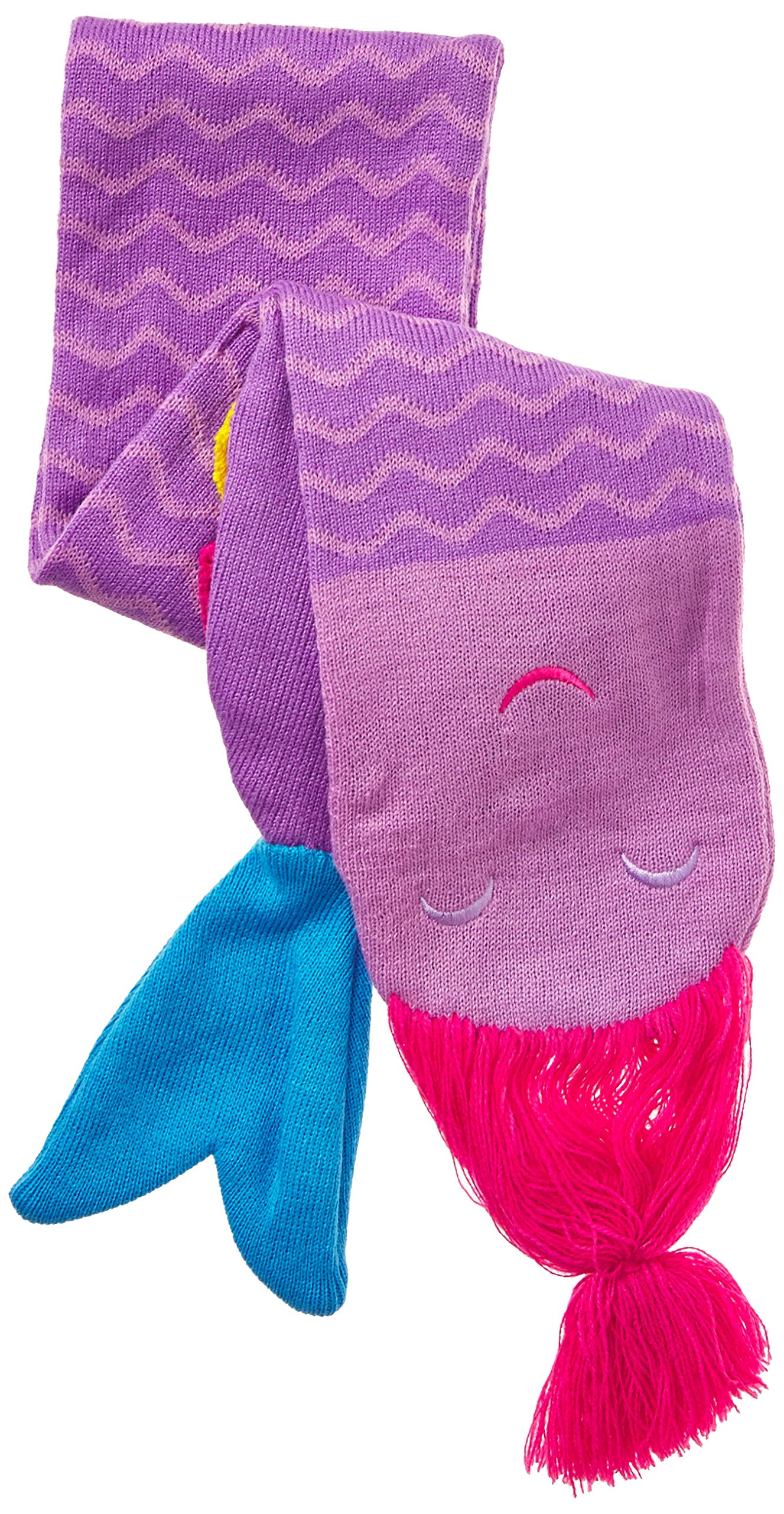 Kidorable Girls' Little Mermaid Hat Scarf Set, Purple, Small by Kidorable (Image #2)