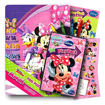 Disney Minnie Mouse Bowtique Activity Play Set With Grab Go Pack Coloring Book