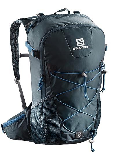 Salomon 25 l Mochila de excursionismo, evasion 25, azul oscuro y gris oscuro