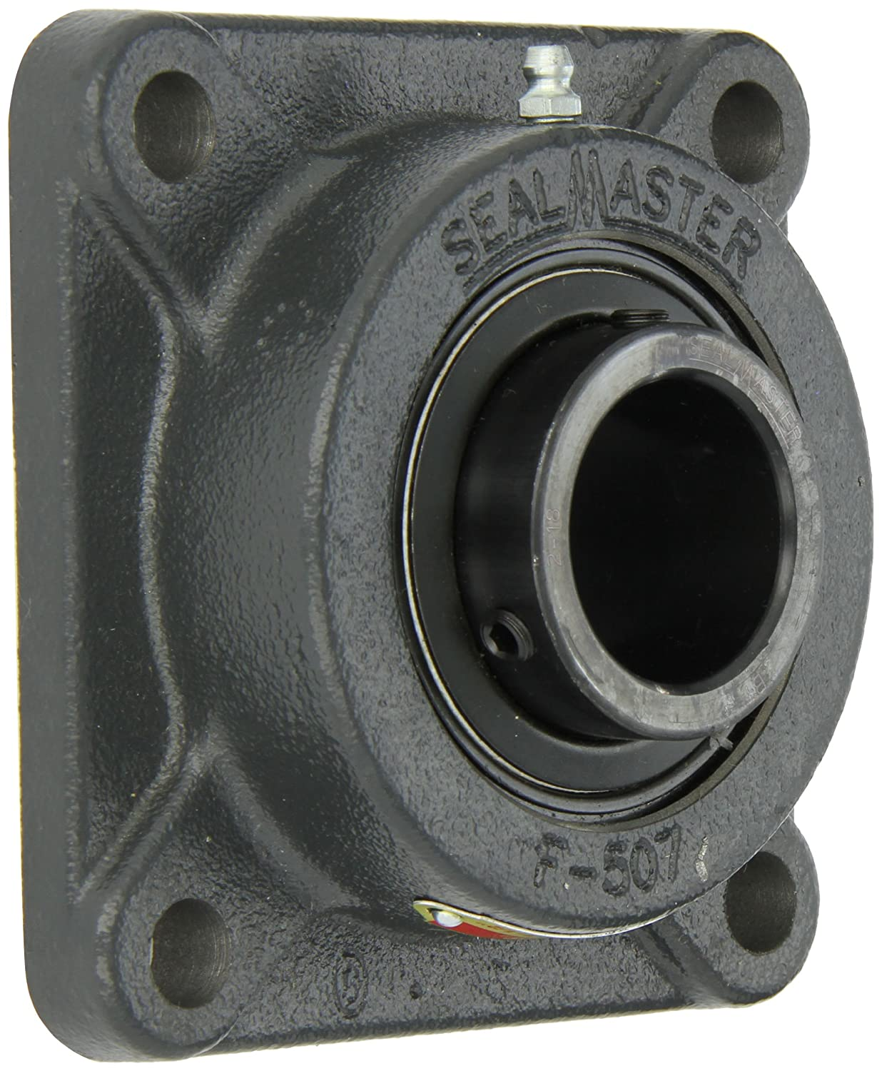 5-1//8 Overall Length 1-1//2 Bore Felt Seals 4 Bolt Regreasable Setscrew Locking Collar Cast Iron Housing Sealmaster SF-24 Standard Duty Flange Unit 9//16 Flange Height /±2 Degrees Misalignment Angle 4 Bolt Hole Spacing Width