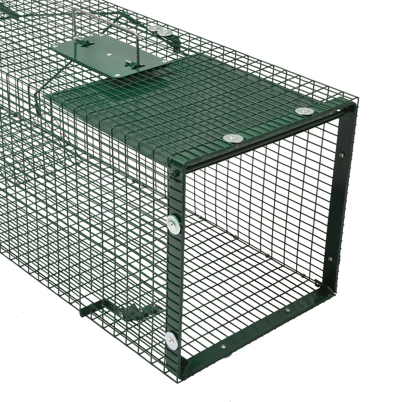 Moorland Safe 5002 - Trampa para Animales Vivos - 90x30x30 cm - para martas, Gatos, Zorros, Conejos - con 1 Entrada: Amazon.es: Jardín