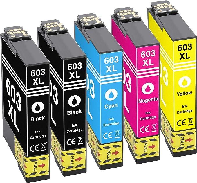 Gorilla Ink 5 Druckerpatronen Passend Zu Epson 603xl Geeignet Für Expression Home Xp2100 Xp2105 Xp3100 Xp3105 Xp4100 Xp4105 Workforce Wf2810 Dwf Wf2835 Dwf Wf2850 Dwf Wf2830 Dwf Bürobedarf Schreibwaren