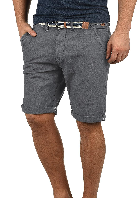 TALLA XL. Indicode Mews Chino Pantalón Corto Bermuda Pantalones De Tela para Hombre con Cinturón De 100% algodón Regular-Fit