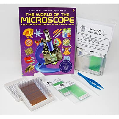 Benz Microscope Basic Plastic Slide Making Kit with The World of Microscopes Book: Toys & Games