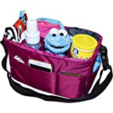 Diaper Bag Insert Organizer for Stylish Moms, Dark Pink (More Color Options Available), 12 pockets, Turn Your Favorite Tote Bag into A Trendy Diaper Bag, by MommyDaddy&Me