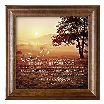 Amazoncom So God Made A Farmer Sunset Scene 12 X 12 Framed Art