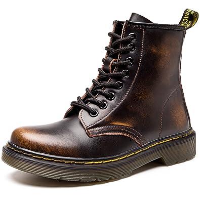 31c03e4b7f50 JACKSHIBO Damen Herren Klassischer Stiefeletten Stiefel Boots Winter Warme  Gefüttert Winterstiefel Schneestiefel Winterschuhe,No Baumwolle