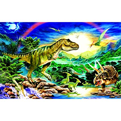 Tyrannosaur - Dinosaur 100 Piece Jigsaw Puzzle by SunsOut: Toys & Games