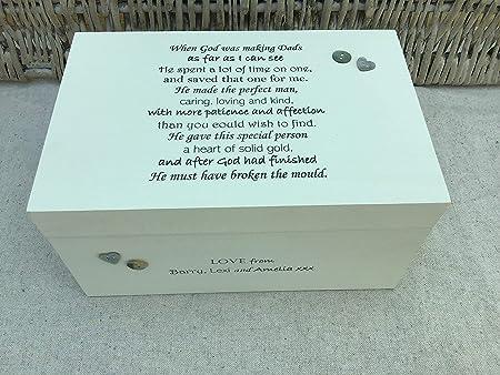Caja de Recuerdos para papá, papá, papá, papá, papá, papá, Personalizable: Amazon.es: Hogar