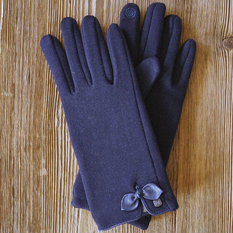 AKAROA ESTD 2019 Damen Handschuhe LIZ 50/% Baumwolle und 50/% Fleece Touchfunktion extra weiches Teddyfutter