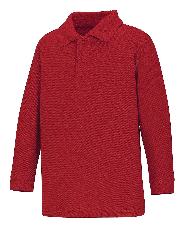 Amazon Classroom Little Boys Uniform Long Sleeve Pique Polo