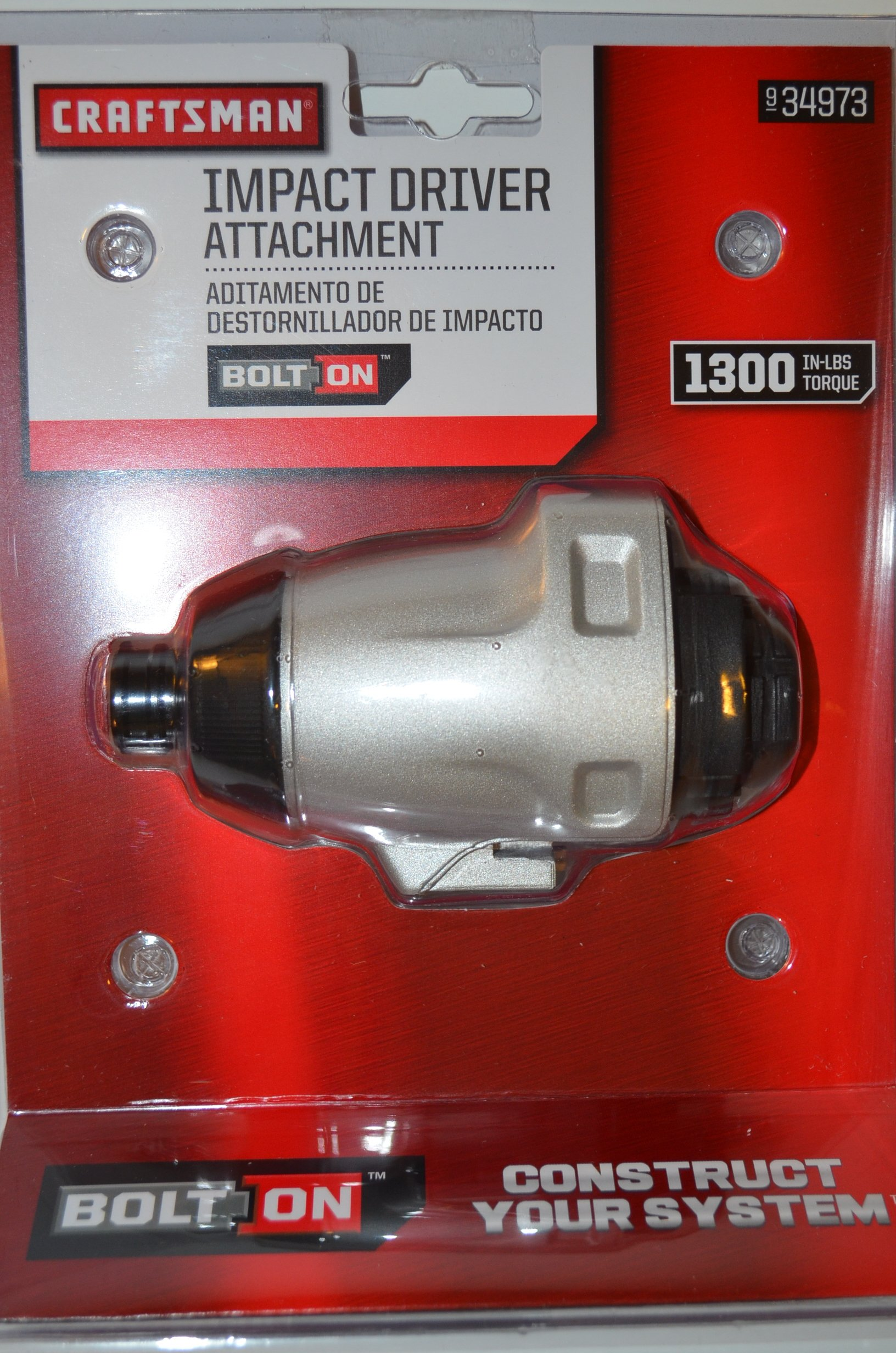 Craftsman 934973 Bolt-On 20v Lithium Ion Impact Drill//Driver Attachment Bolton