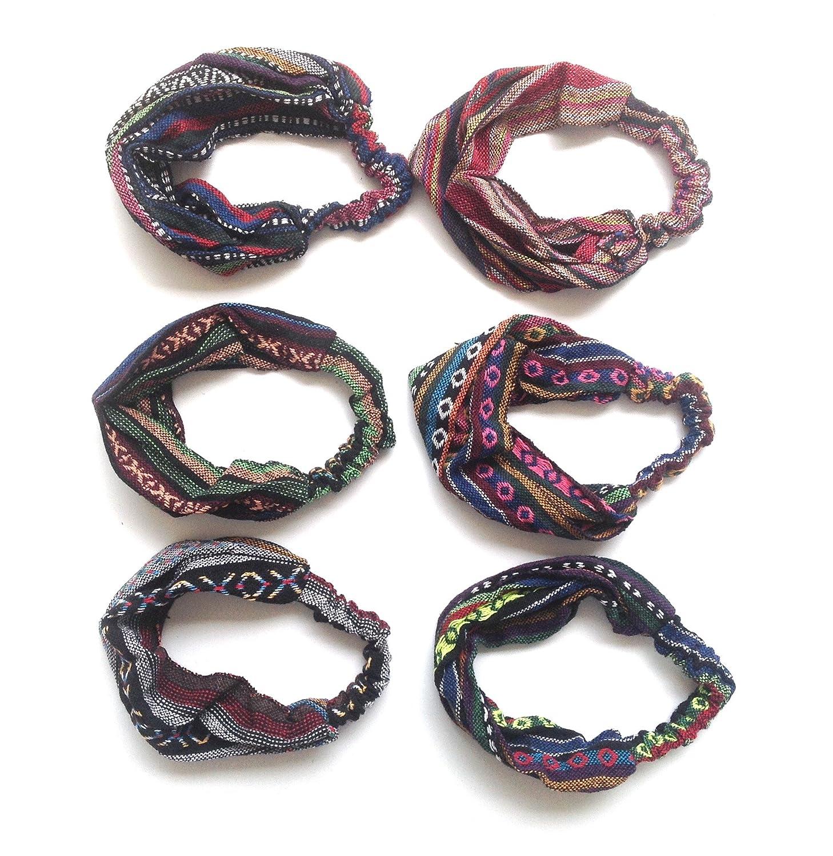 HC Enterprise,Cinta pañuelo para cabeza,estampado etnico,multicolor ...